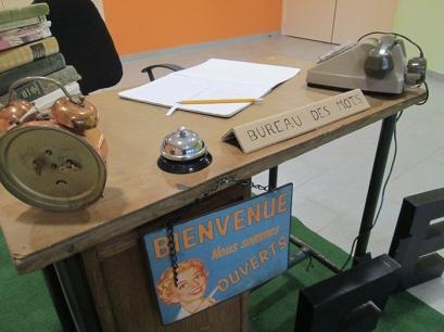 Médiathèque de Dieulouard, installation artistique, bureau des mots