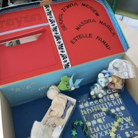 Le Nid maternel, création de boîtes de souvenirs