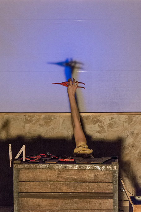 Lisa Lira, spectacle ombre et lumières, outil