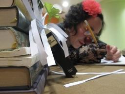 Médiathèque de Dieulouard, clowne littéraire