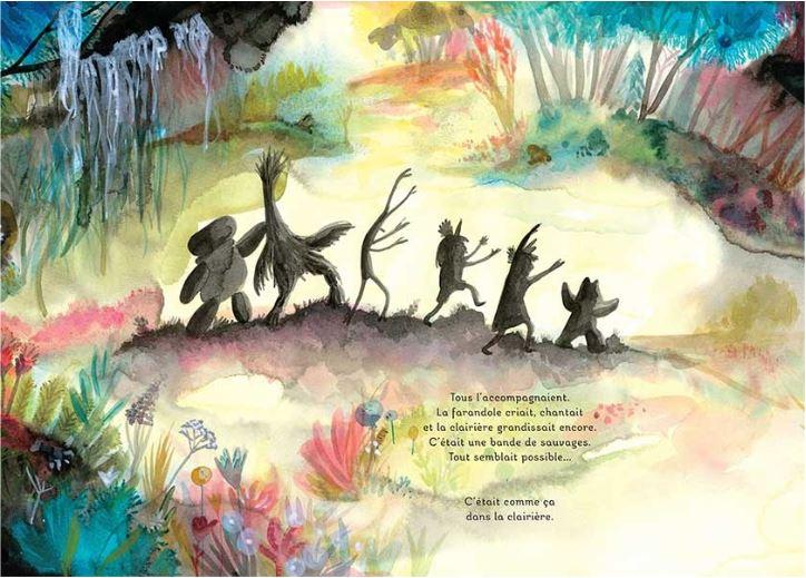 """Mélanie Rutten, autrice et illustratrice jeune public. Album """"Les sauvages""""."""